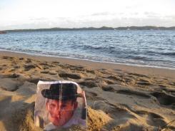 George in the sand on Coalmine Beach