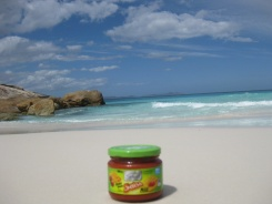 Salsa on little beach