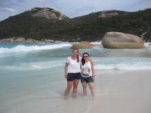 Me and Sarah on Little Beach