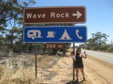 Me and George waving at Wave Rock
