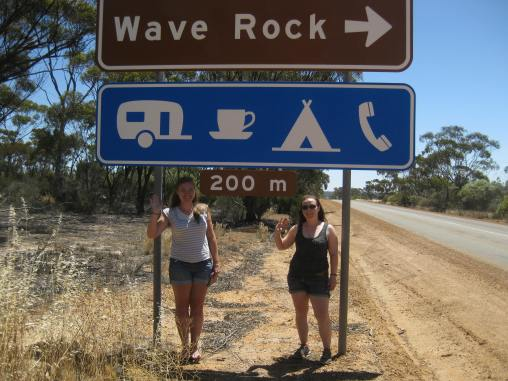 Waving at Wave Rock