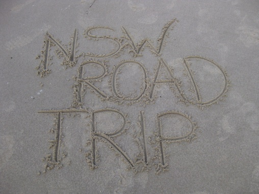 NSW Road Trip immortalised in the sand