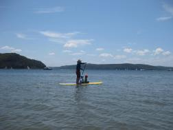 Paddling on Station Beach