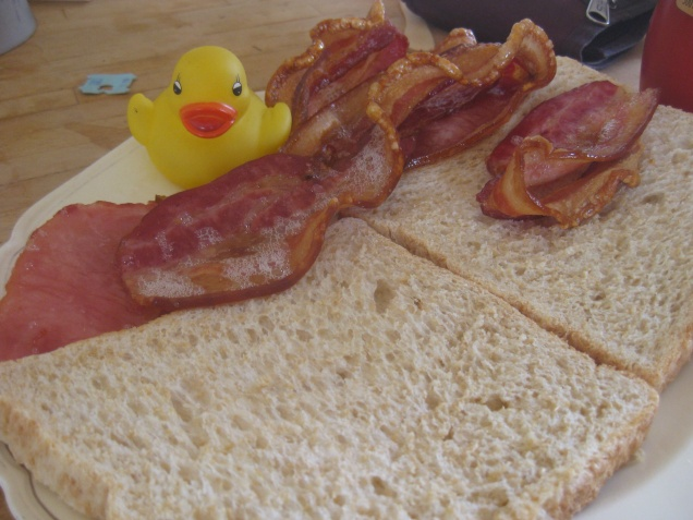 Ducks and bacon