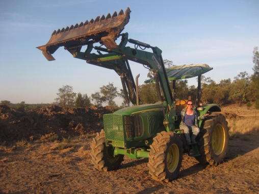 Me in my tractor