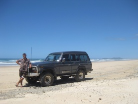 Ben proud of his beach four wheel driving