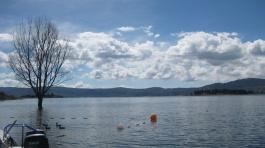 Snowy lakes