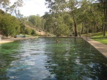 Ben enjoying a swim in the not so thermal pool