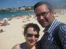 Me and Ben on Bondi beach
