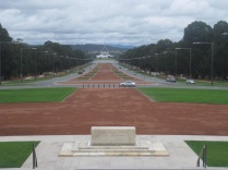 The view from the war memorial