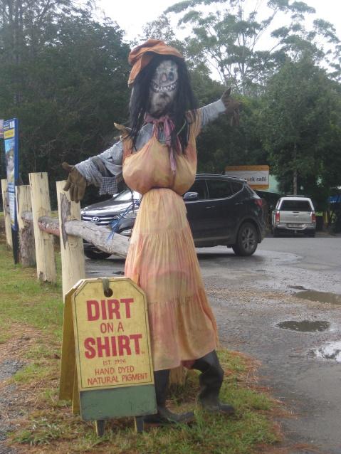 Dirt on a shirt...