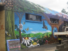Street art in Uki