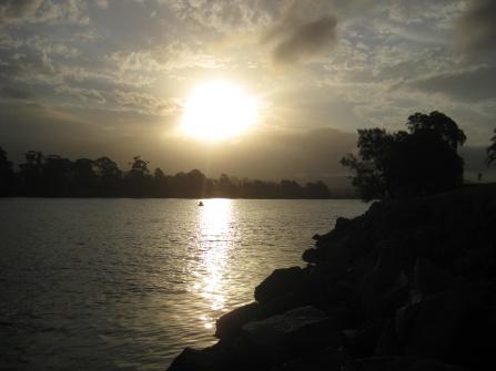 Sunset over Moruya's river