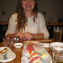 Sarah and sushi