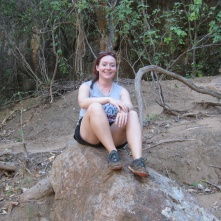 Me happy on a rock