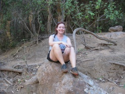 Me happy on a rock