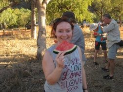 Slightly big piece of melon...!