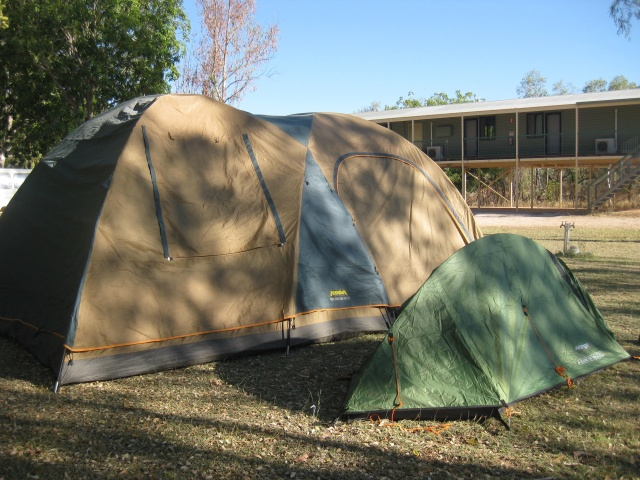 Our beautifuuly assembled tent!
