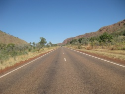 The beautiful outback open road