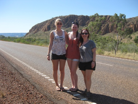 Girls hit the road