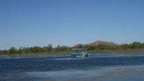 Boats on Kununurra's lake