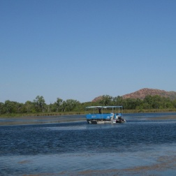 Boats on Kununurra's lake