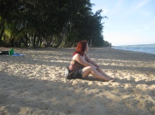 Chilling out at a Palm Cove