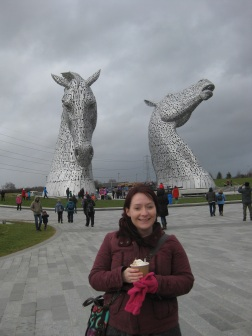 Me at the Kelpies
