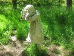One of the 'weeping girls' artwork