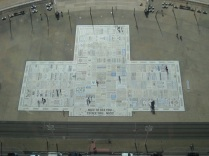 Comedy Carpet from above
