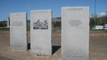 Stones outlining Tay Bridge disaster