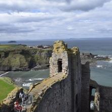 The sea behind Tantallon Castle
