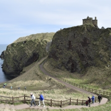 People at Dunnottar