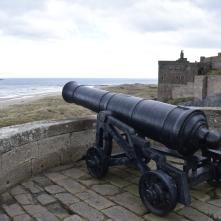 Guns at Bamburgh Castle