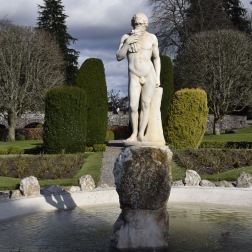 Statues at Drummond Castle Gardens