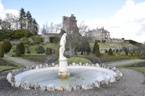 Water features at Drummond Castle Gardens