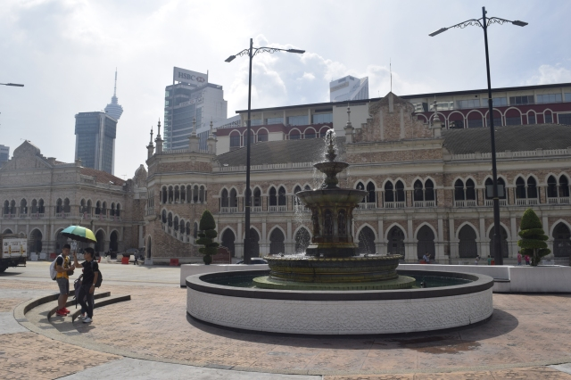 The fountain at Merdeka Square