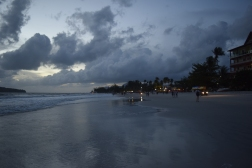 Langkawi beach by night