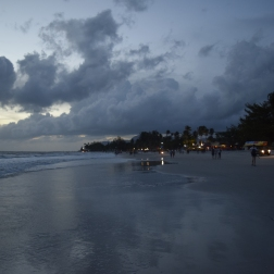 Langkawi beach by night