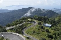 The road up Gunung Raya