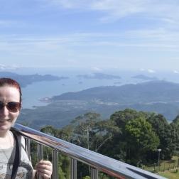 At the top of Gunung Raya