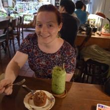 Me happy with Melaka cake